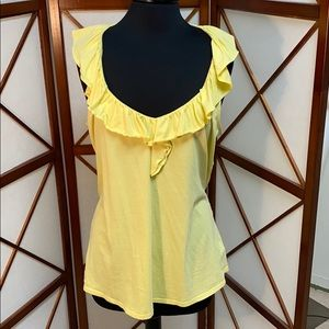 Lily Pulitzer yellow tank top